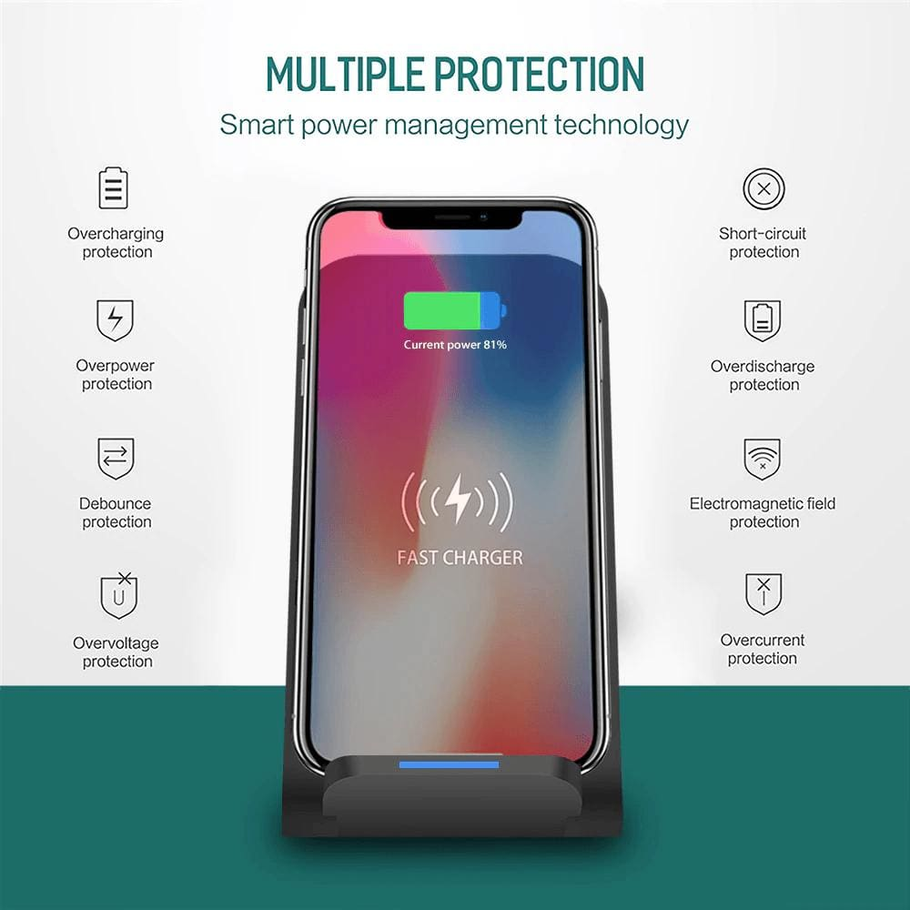 15W Qi Fast Wireless Charger for iPhone 11 Pro 8 X XR XS Max Airpods Samsung Pic1