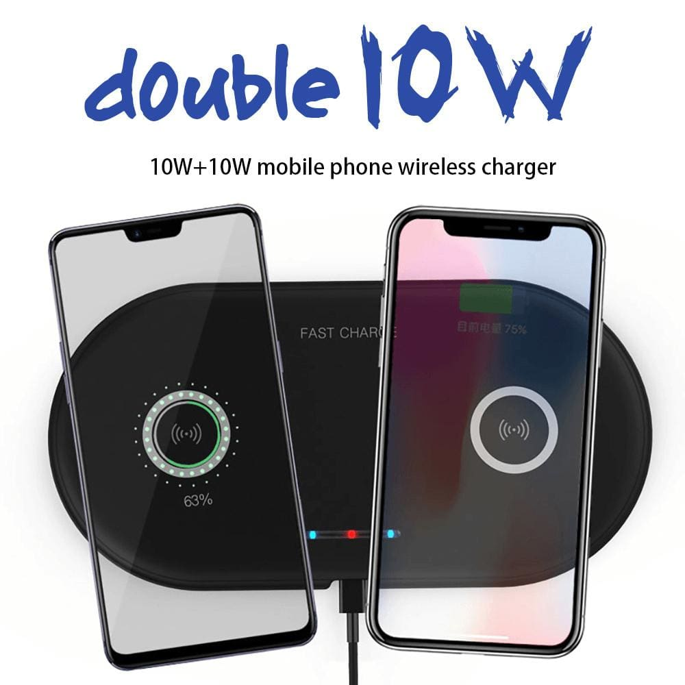 20W 2 in 1 Wireless Charger iPhone 11 8 X XS Max XR Samsung S9 S10 Note 10 9 8 Pic1