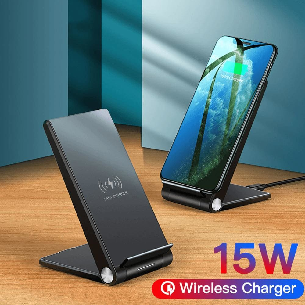 15W Fast Qi Wireless Charger For iPhone 11 Pro Max XS XR X 8 Samsung S10 S9 Pic1