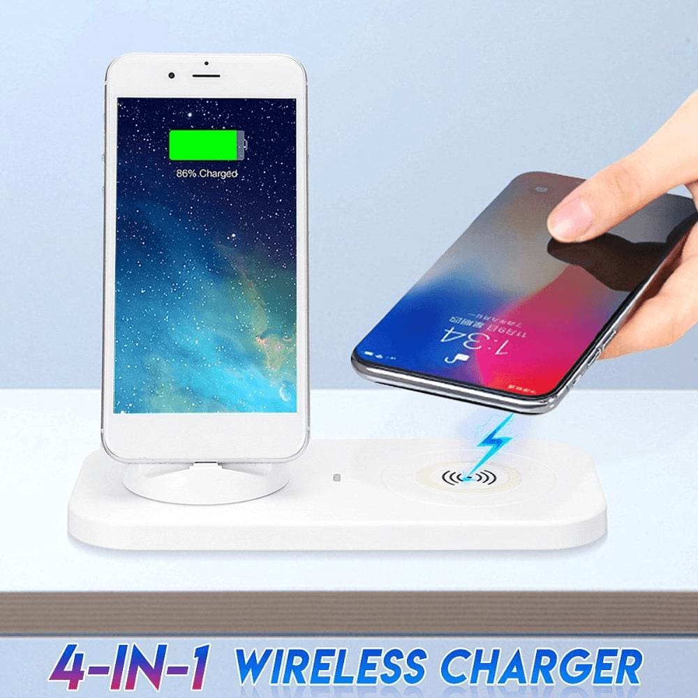 3 in 1 Qi Wireless Charger for iPhone Airpods iPad Samsung Xiaomi Redmi Huawei Pic1