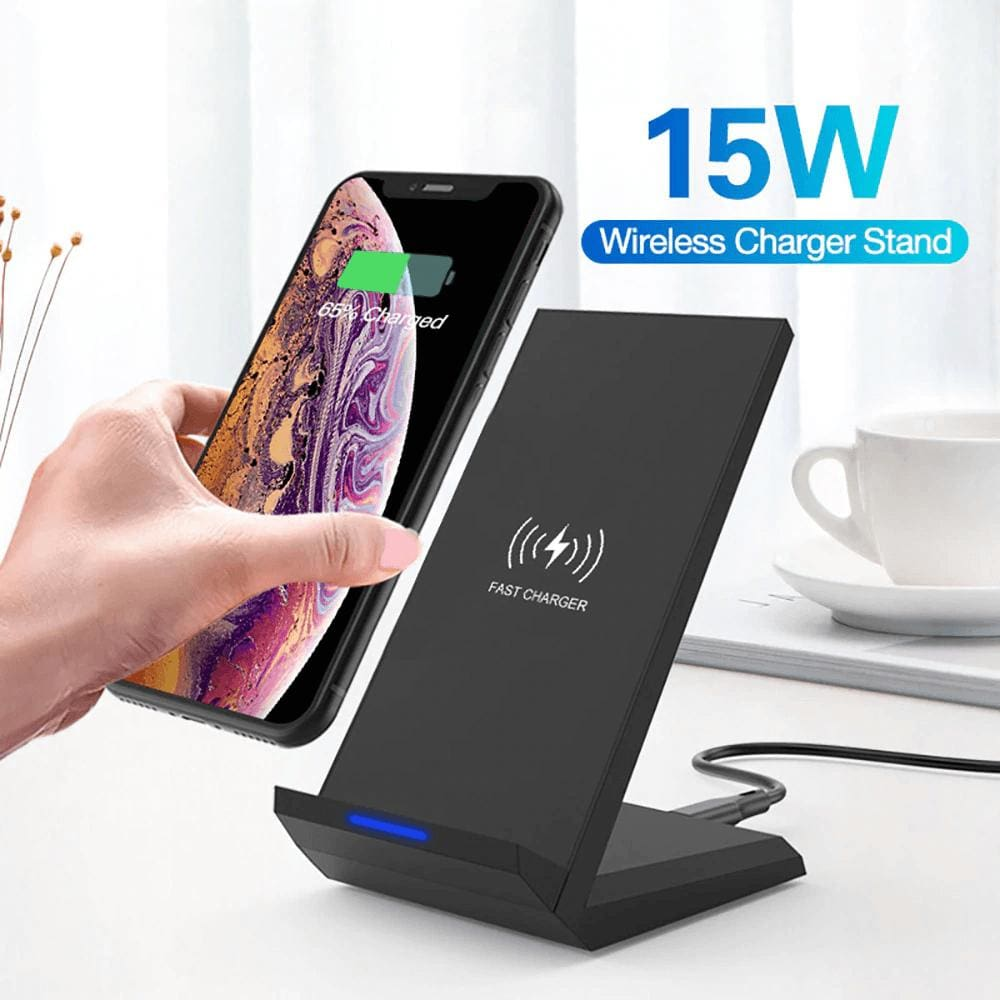 15W Qi Quick Wireless Charger QC 3.0 Fast Charging Stand For iPhone Samsung Pic1