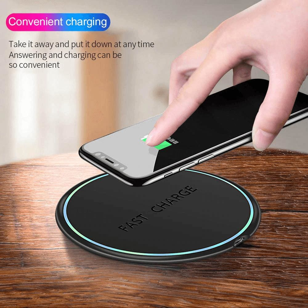 10W Qi Fast Wireless Charger For Samsung Galaxy S10 S9 S8 Plus Note 10 9 iPhone Pic1