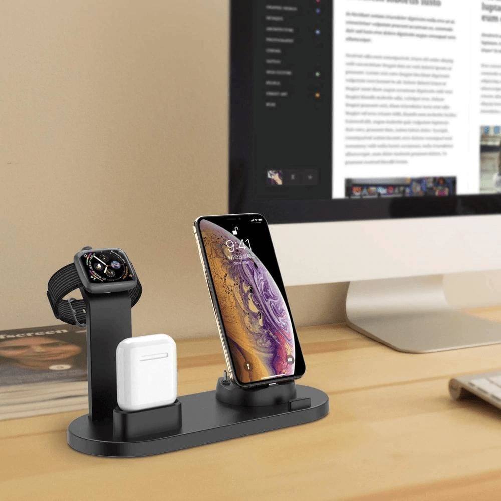3 in 1 Charging Dock Station For iPhone X XR XS Max 8 7 6 Plus iWatch Airpods Pic1