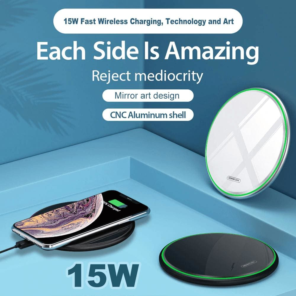 15W Qi Fast Wireless Charger Pad for Samsung S9 S10 iPhone 11 X XS MAX XR 8 Pic1