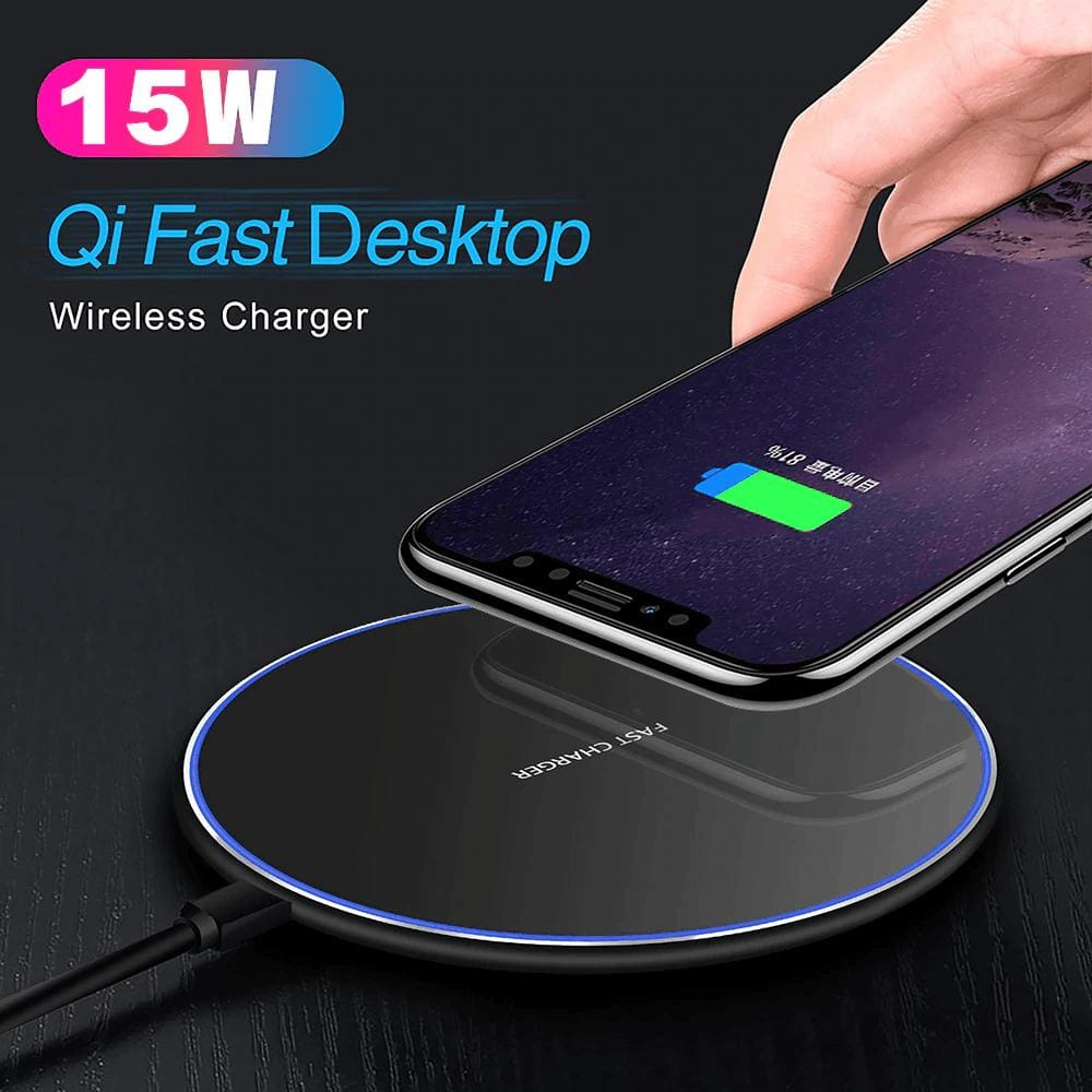 15W Fast Qi Wireless Charger For iPhone 11 X XR XS Samsung Note 10 9 S8 S9 S10 Pic1