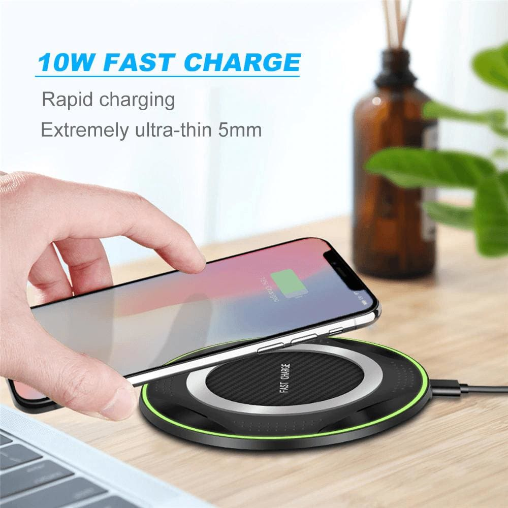 10W QI Fast Wireless Charger for iPhone XS Max XR X 8 Plus Samsung Note 9 S9 S8 Pic1