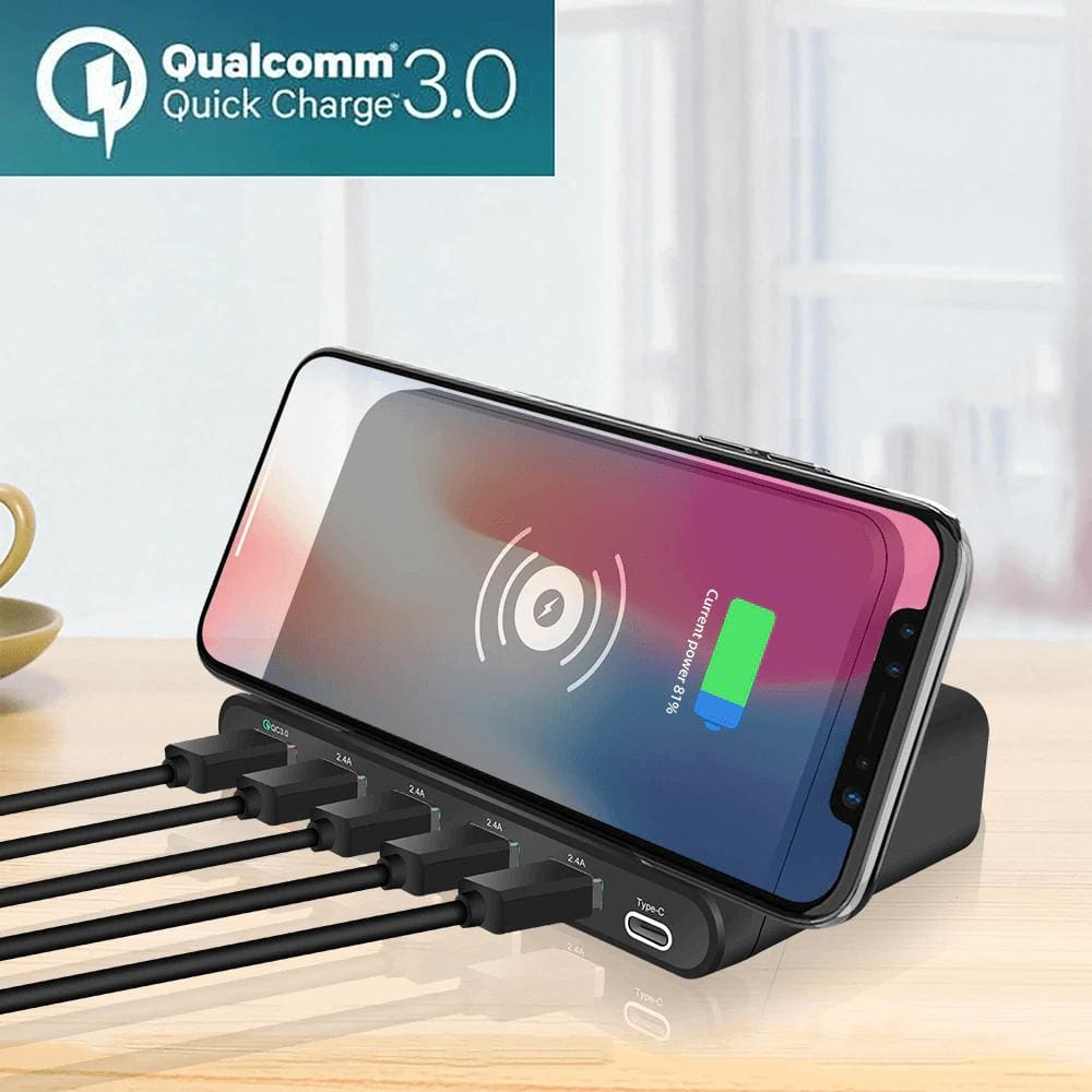 Quick Charge 3.0 USB Qi Fast Wireless Charging Dock Station iPhone Samsung Pic1