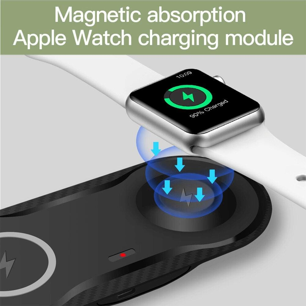 2 in 1 Fast Wireless Charger for Apple Watch Airpods Pro 10W Qi iPhone Samsung Pic2