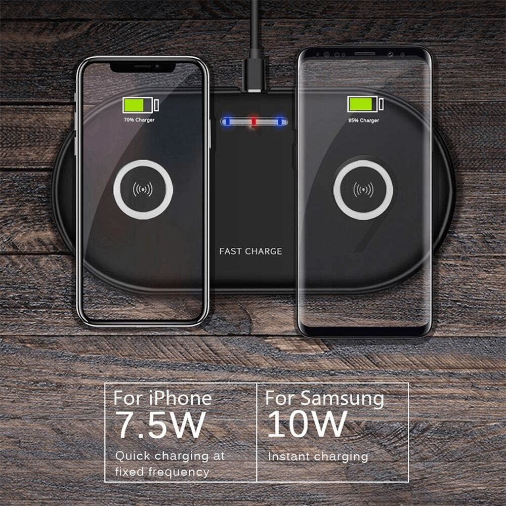 20W 2 in 1 Wireless Charger iPhone 11 8 X XS Max XR Samsung S9 S10 Note 10 9 8 Pic2