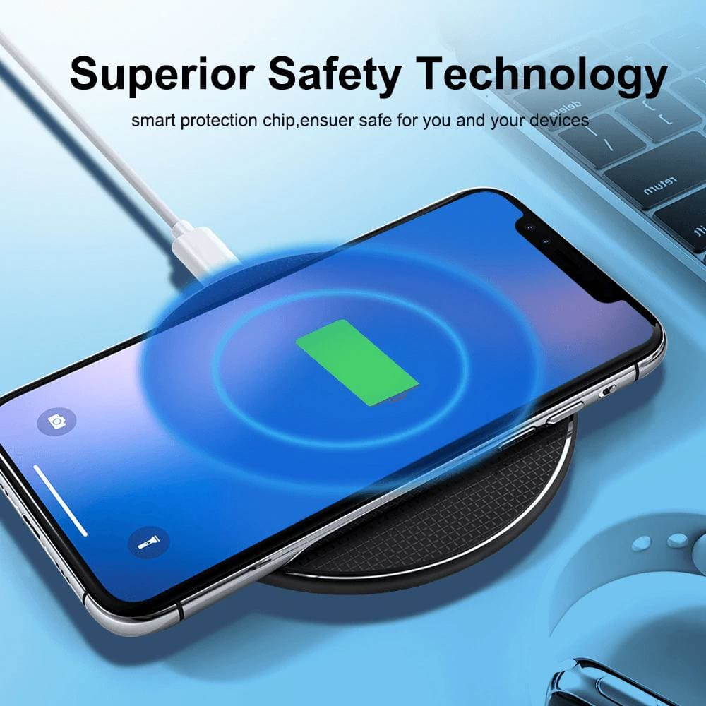10W Qi Fast Wireless Charger iPhone X XS 11 Pro Max XR Samsung S10 S9 Note 10 9 Pic2
