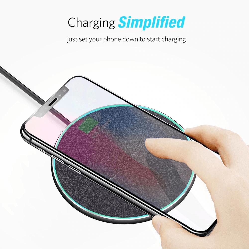 QI Wireless Charger 10W for iPhone X 8 Plus XR XS Max For Samsung S8 S9 S10 Pic2