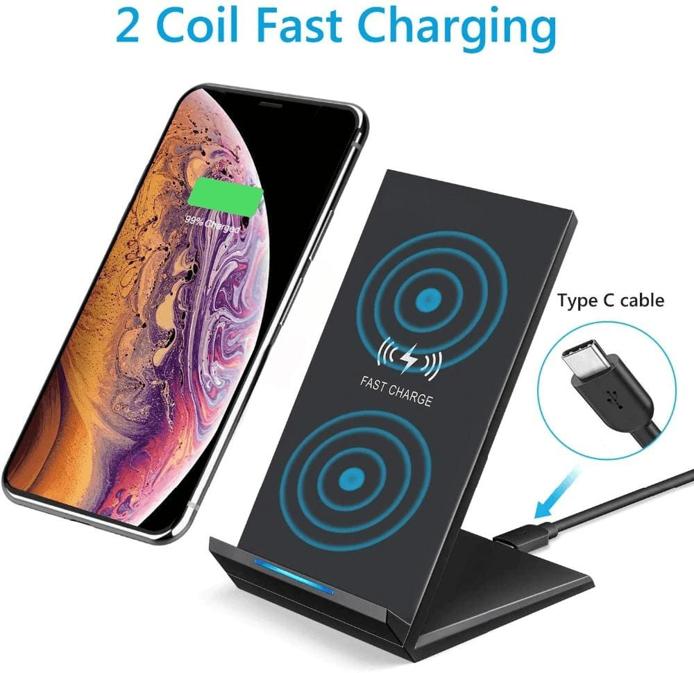 Qi 15W Fast Wireless Charger For iPhone X 11 XS Pro XR 8 Airpods Samsung S10 S9 Pic2