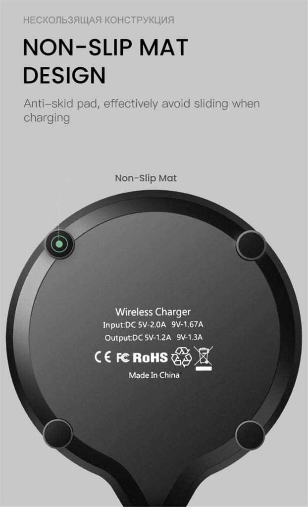 Qi Fast Wireless Charger 10W/7.5W QC 3.0 for iPhone 11 X XR XS Max Samsung Pic11