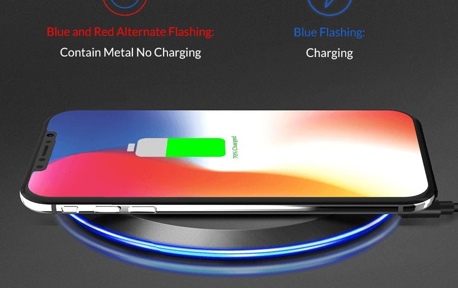 Wireless Fast Charger 10W Charging Pad for iPhone X Xs Max 8 Plus Samsung Note 9 Pic10