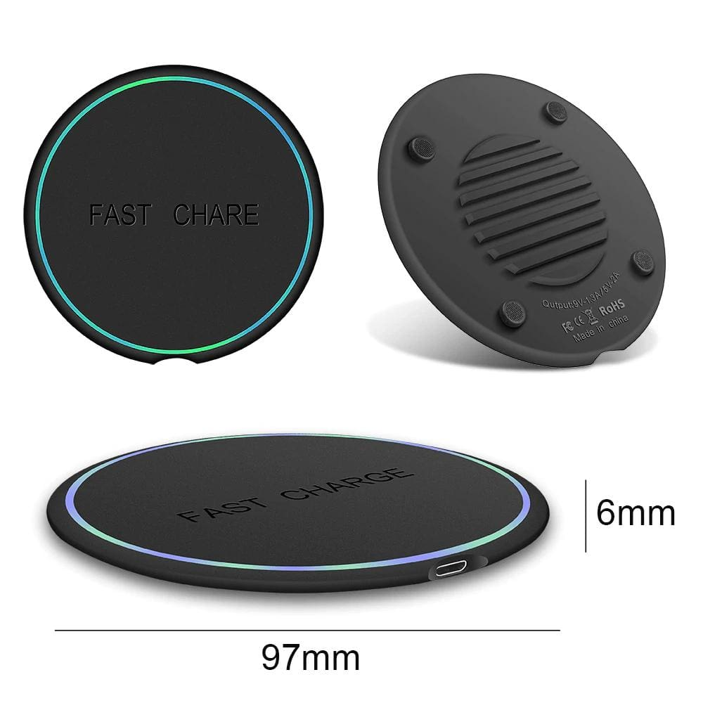 10W Qi Fast Wireless Charger For Samsung Galaxy S10 S9 S8 Plus Note 10 9 iPhone Pic11