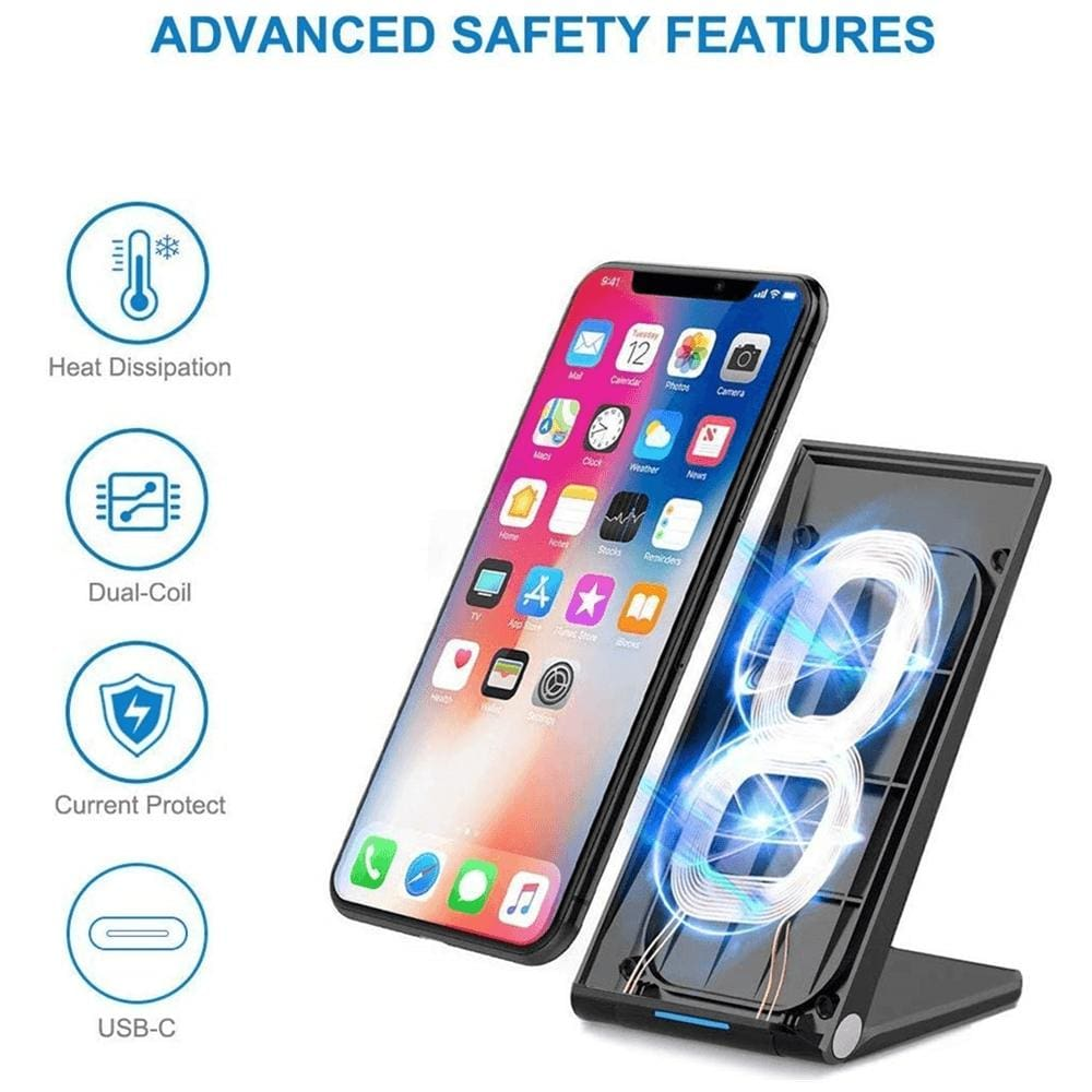 15W Fast Qi Wireless Charger For iPhone 11 Pro Max XS XR X 8 Samsung S10 S9 Pic3
