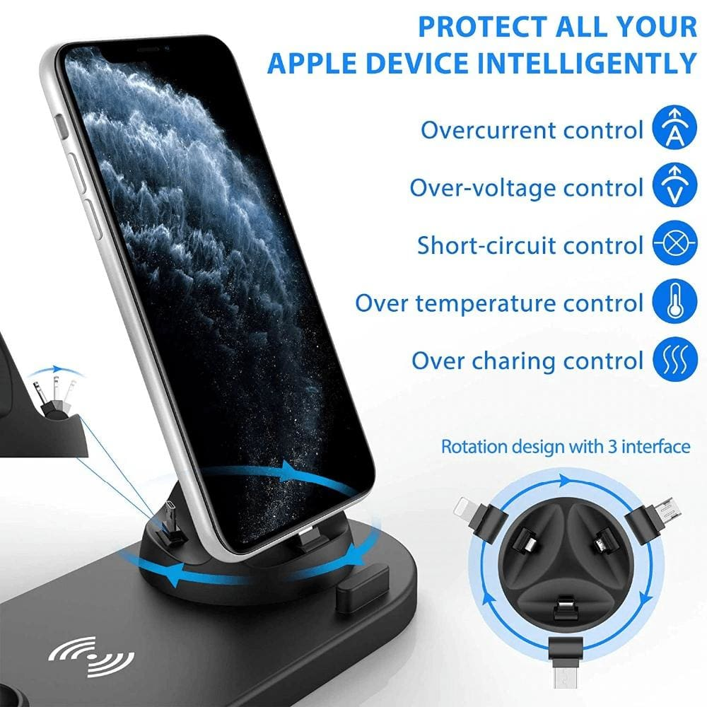 Fast Charging Wireless Charger Stand 3 in 1 for Apple Watch Airpods Qi iPhone Pic3