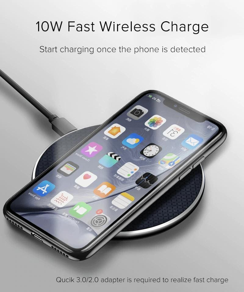 10W Qi Fast Wireless Charger iPhone X XS 11 Pro Max XR Samsung S10 S9 Note 10 9 Pic3