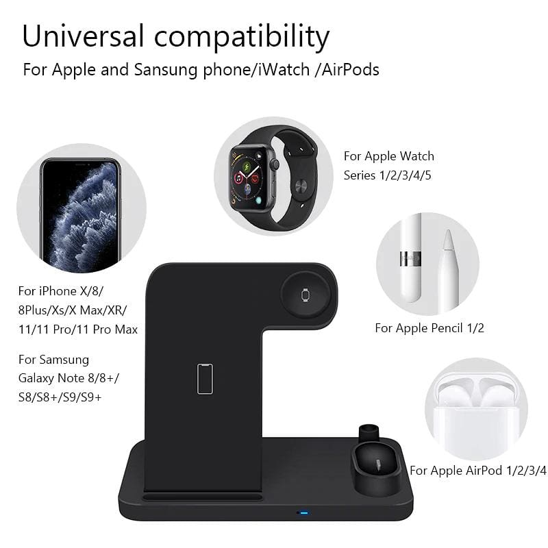 4 in 1 Wireless Charger 10W Fast Charging for iPhone Apple Watch Airpods Pic3