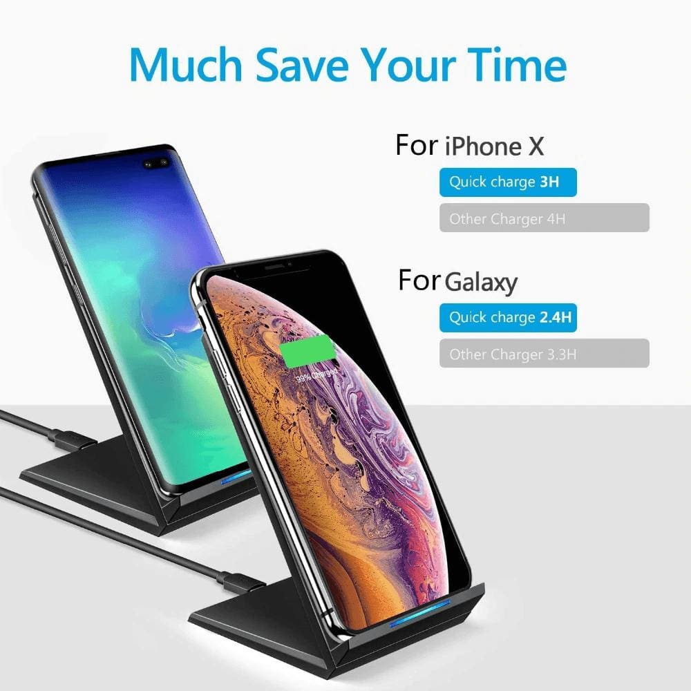 Qi 15W Fast Wireless Charger For iPhone X 11 XS Pro XR 8 Airpods Samsung S10 S9 Pic3