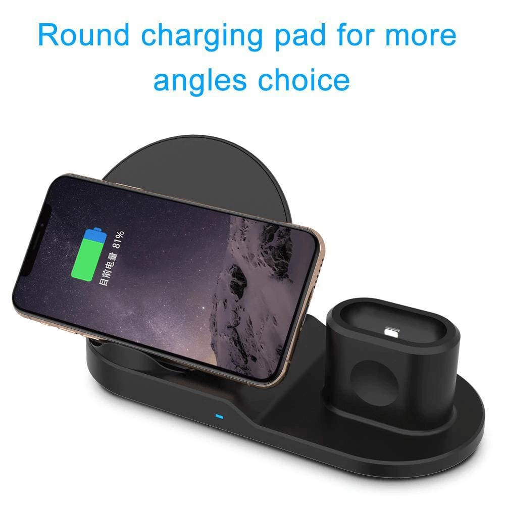 3 In 1 Wireless Charging Station For Apple Watch Airpods 10W Qi iPhone Samsung Pic3