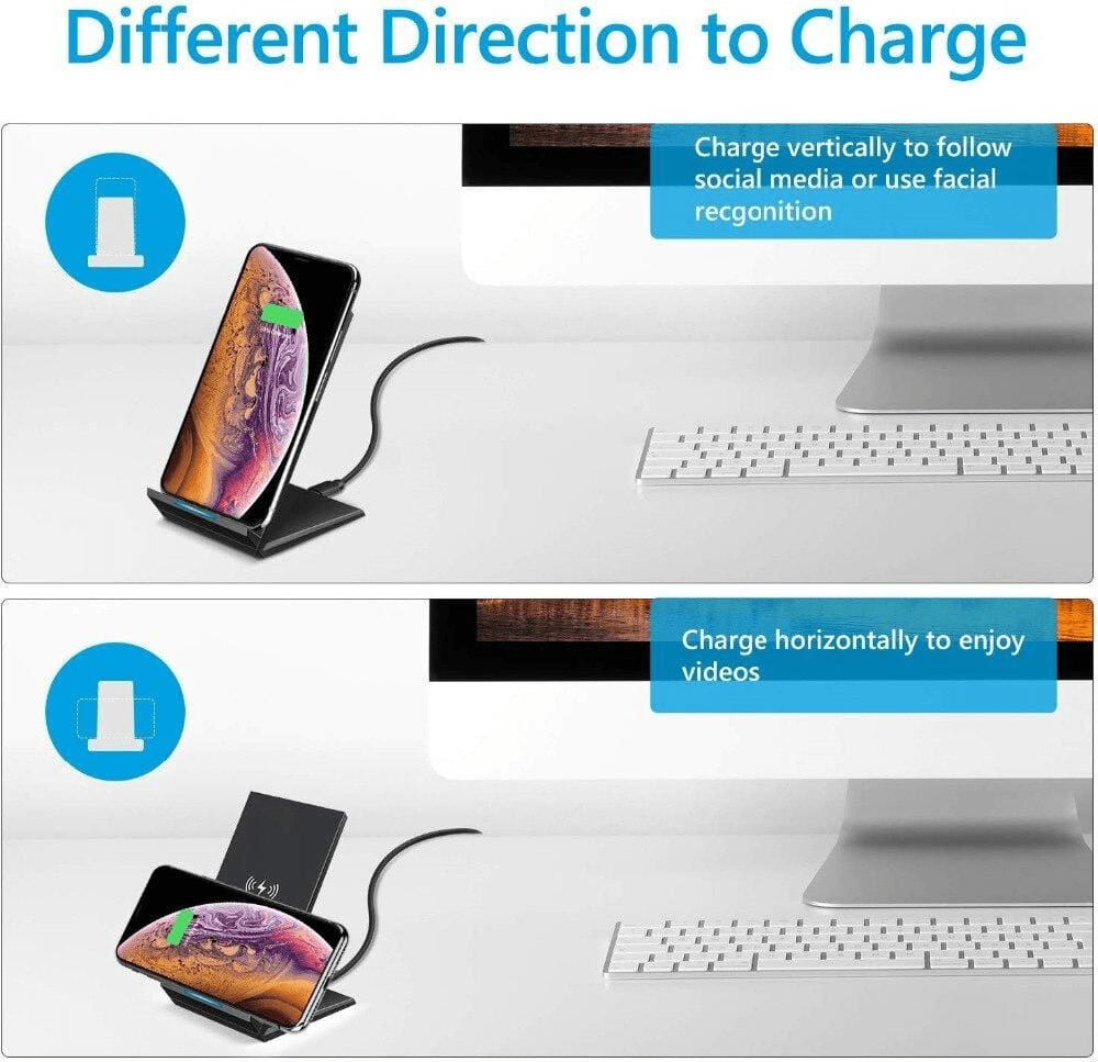 Qi 15W Fast Wireless Charger For iPhone X 11 XS Pro XR 8 Airpods Samsung S10 S9 Pic4