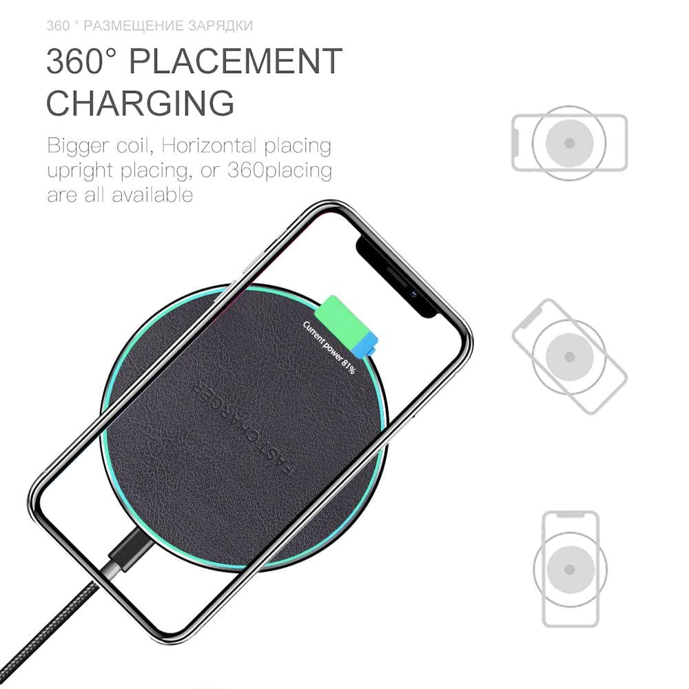 QI Wireless Charger 10W for iPhone X 8 Plus XR XS Max For Samsung S8 S9 S10 Pic4