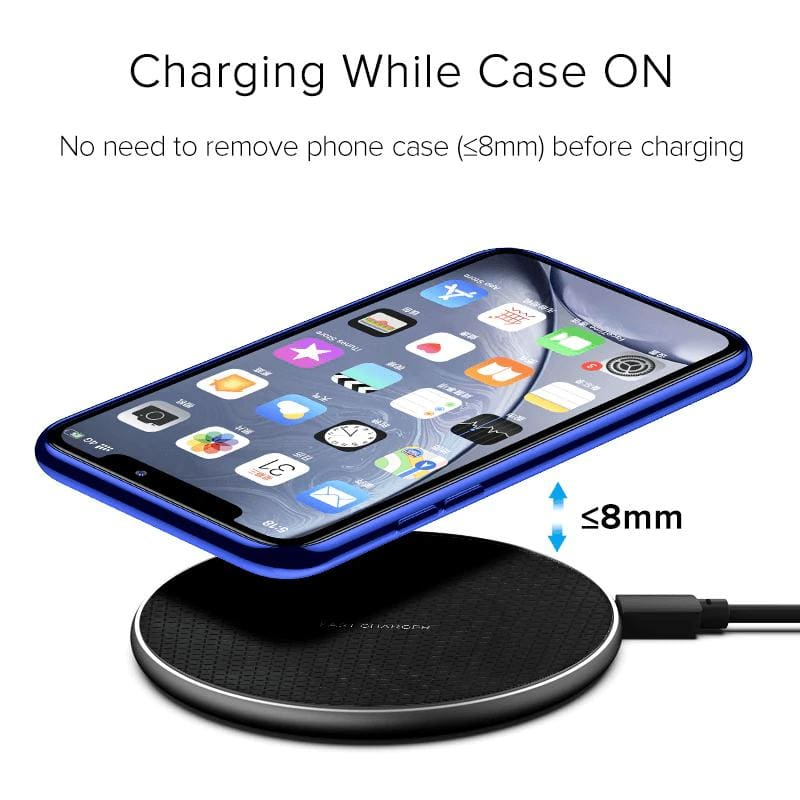 10W Qi Fast Wireless Charger iPhone X XS 11 Pro Max XR Samsung S10 S9 Note 10 9 Pic4