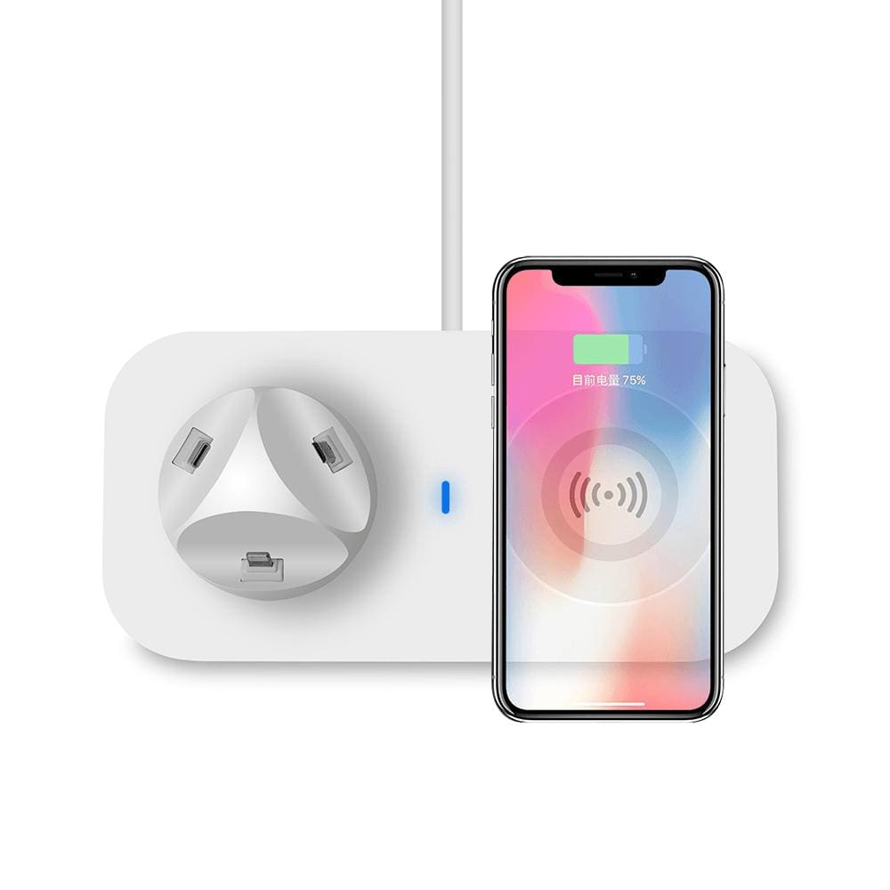3 in 1 Qi Wireless Charger for iPhone Airpods iPad Samsung Xiaomi Redmi Huawei Pic4