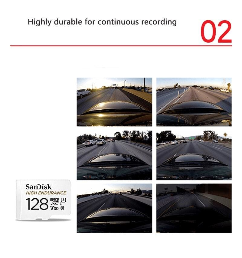 SanDisk Micro SD Card High Endurance Video Monitoring 32GB 64GB 128GB 256GB Pic4