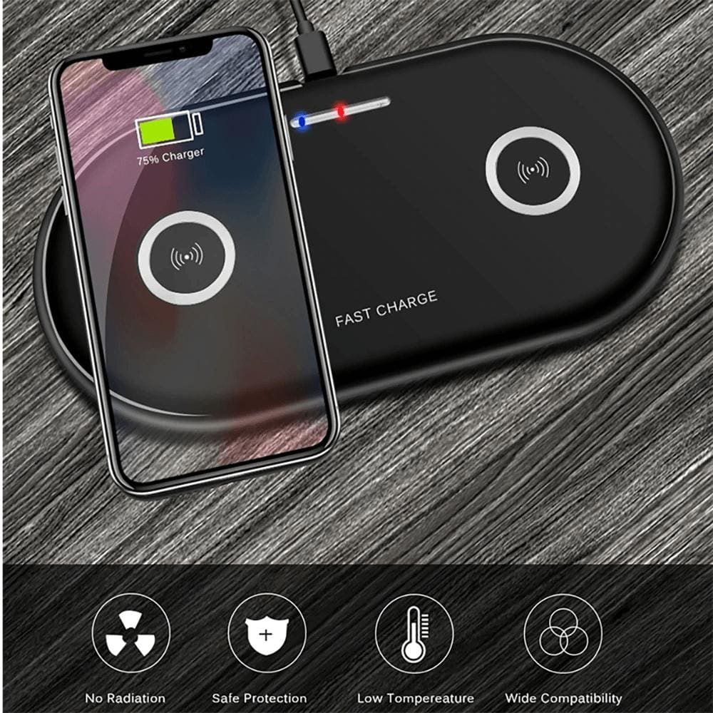 20W 2 in 1 Wireless Charger iPhone 11 8 X XS Max XR Samsung S9 S10 Note 10 9 8 Pic5