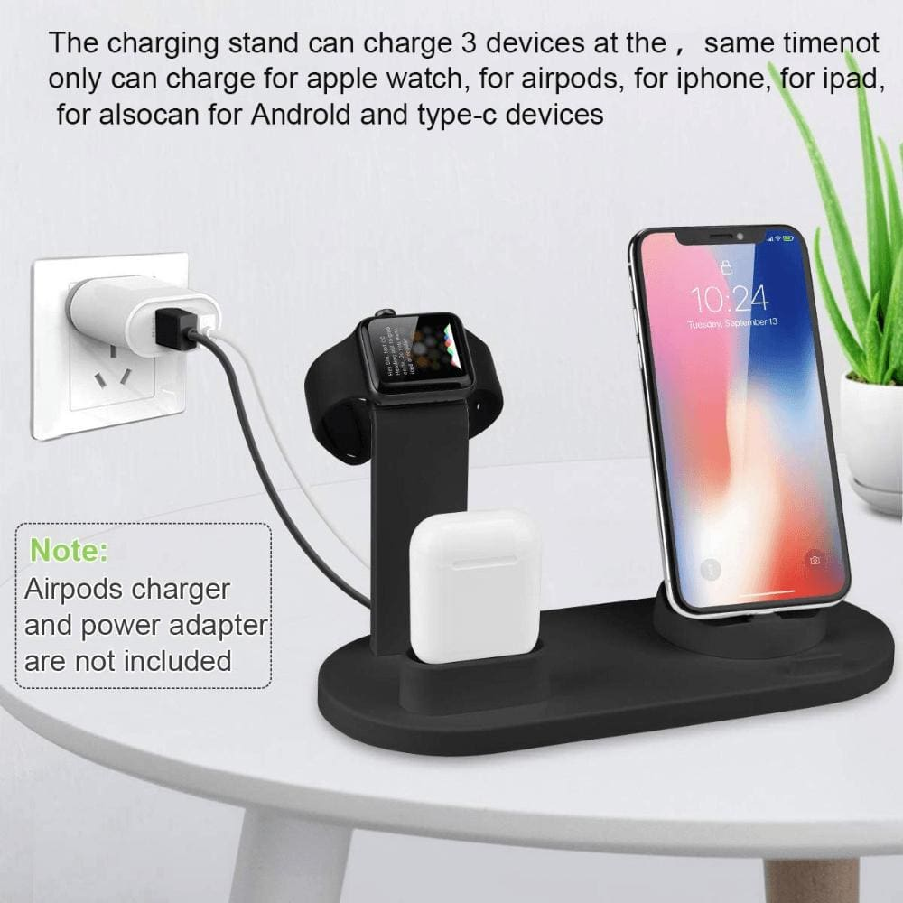 3 in 1 Charging Dock Station For iPhone X XR XS Max 8 7 6 Plus iWatch Airpods Pic5