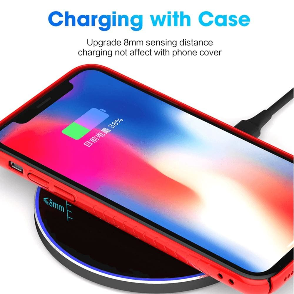 Qi Wireless Charger USB C 15W Fast Charging Pad Quick Charge For iPhone Samsung Pic5
