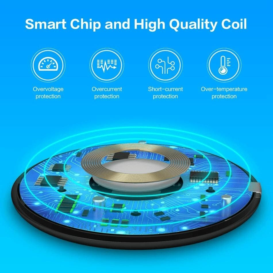 QI Wireless Charger 10W for iPhone X 8 Plus XR XS Max For Samsung S8 S9 S10 Pic5