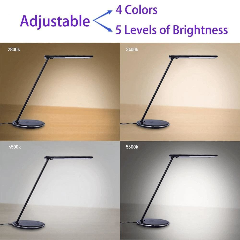 2 In 1 LED Desk Lamp Night Light Qi Fast Wireless Charger 10W for iPhone Samsung Pic5