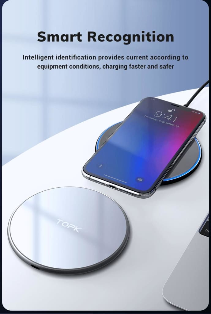 Wireless Charger 10W LED Portable Universal Fast Wireless Phone Charger Pic6