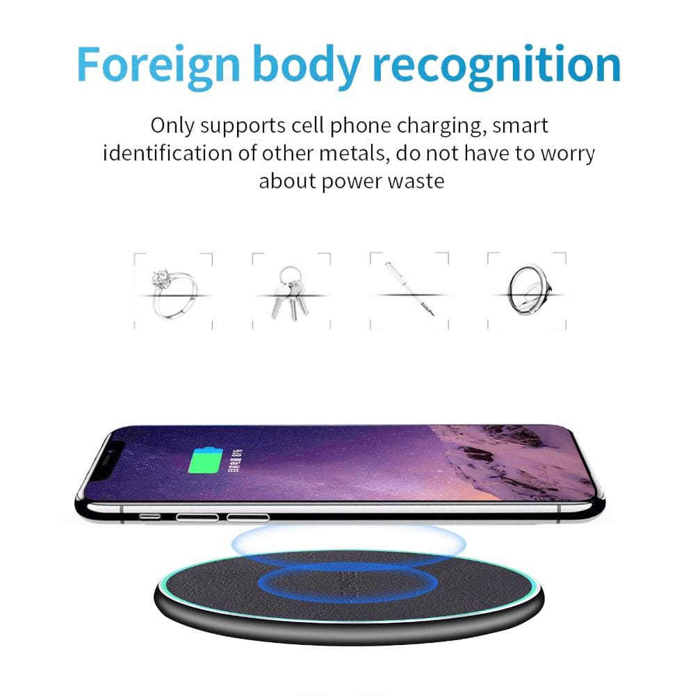 QI Wireless Charger 10W for iPhone X 8 Plus XR XS Max For Samsung S8 S9 S10 Pic6