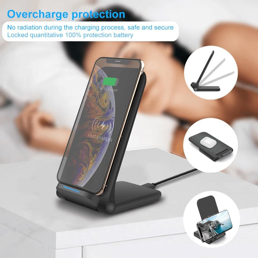 15W Qi Fast Wireless Charger for iPhone 11 Pro 8 X XR XS Max Airpods Samsung Pic6