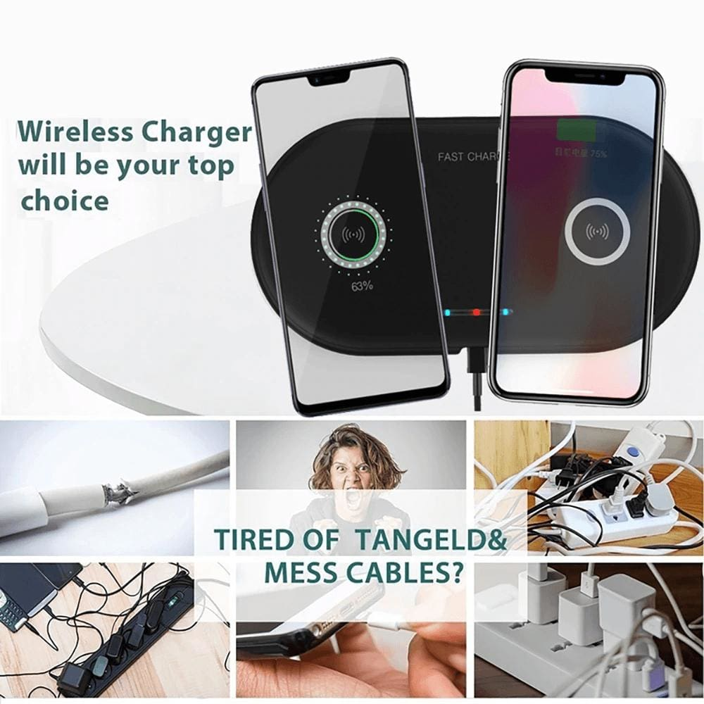 20W 2 in 1 Wireless Charger iPhone 11 8 X XS Max XR Samsung S9 S10 Note 10 9 8 Pic6