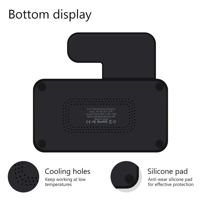 4 in 1 Wireless Charger 10W Fast Charging for iPhone Apple Watch Airpods Pic6