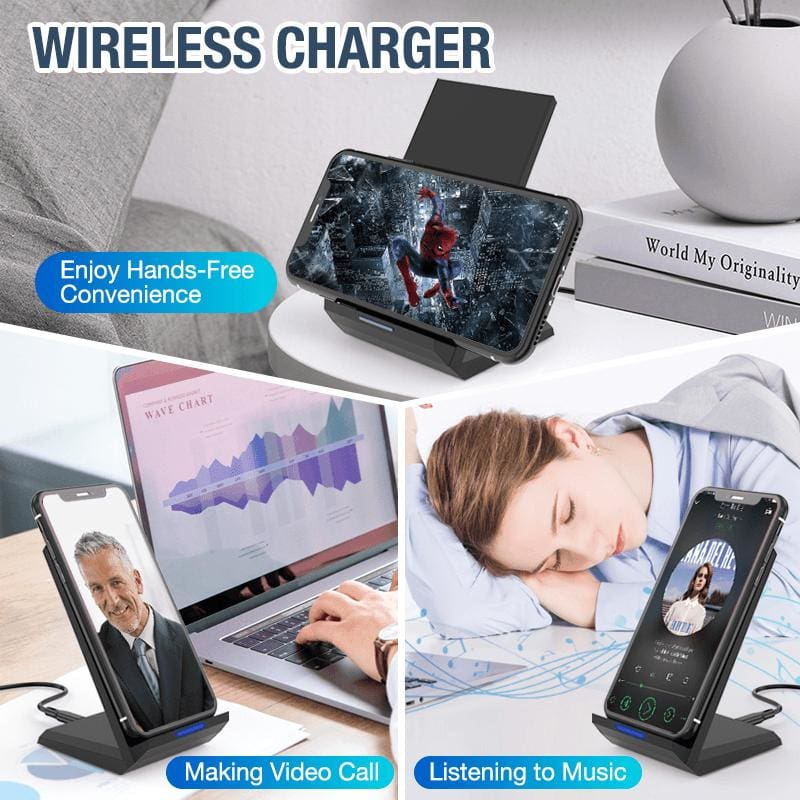 Qi 15W Fast Wireless Charger For iPhone X 11 XS Pro XR 8 Airpods Samsung S10 S9 Pic6