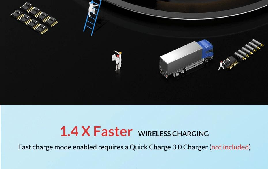 Wireless Fast Charger 10W Charging Pad for iPhone X Xs Max 8 Plus Samsung Note 9 Pic5