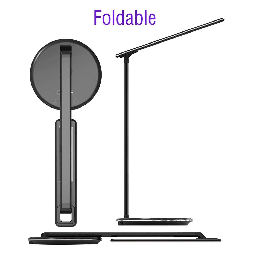 2 In 1 LED Desk Lamp Night Light Qi Fast Wireless Charger 10W for iPhone Samsung Pic6
