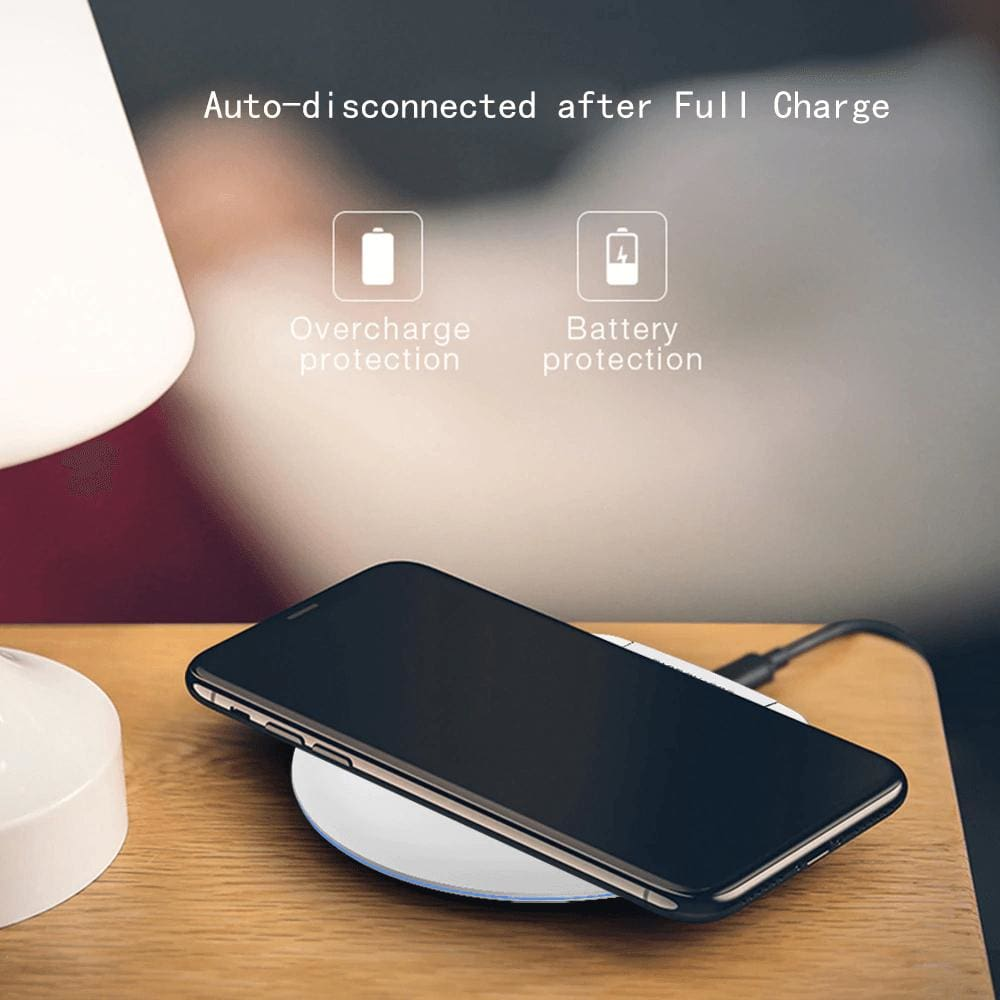 Ultra Thin 10W Qi fAST Wireless Charger for iPhone Samsung S9 S10 Note 10 9 Pic6