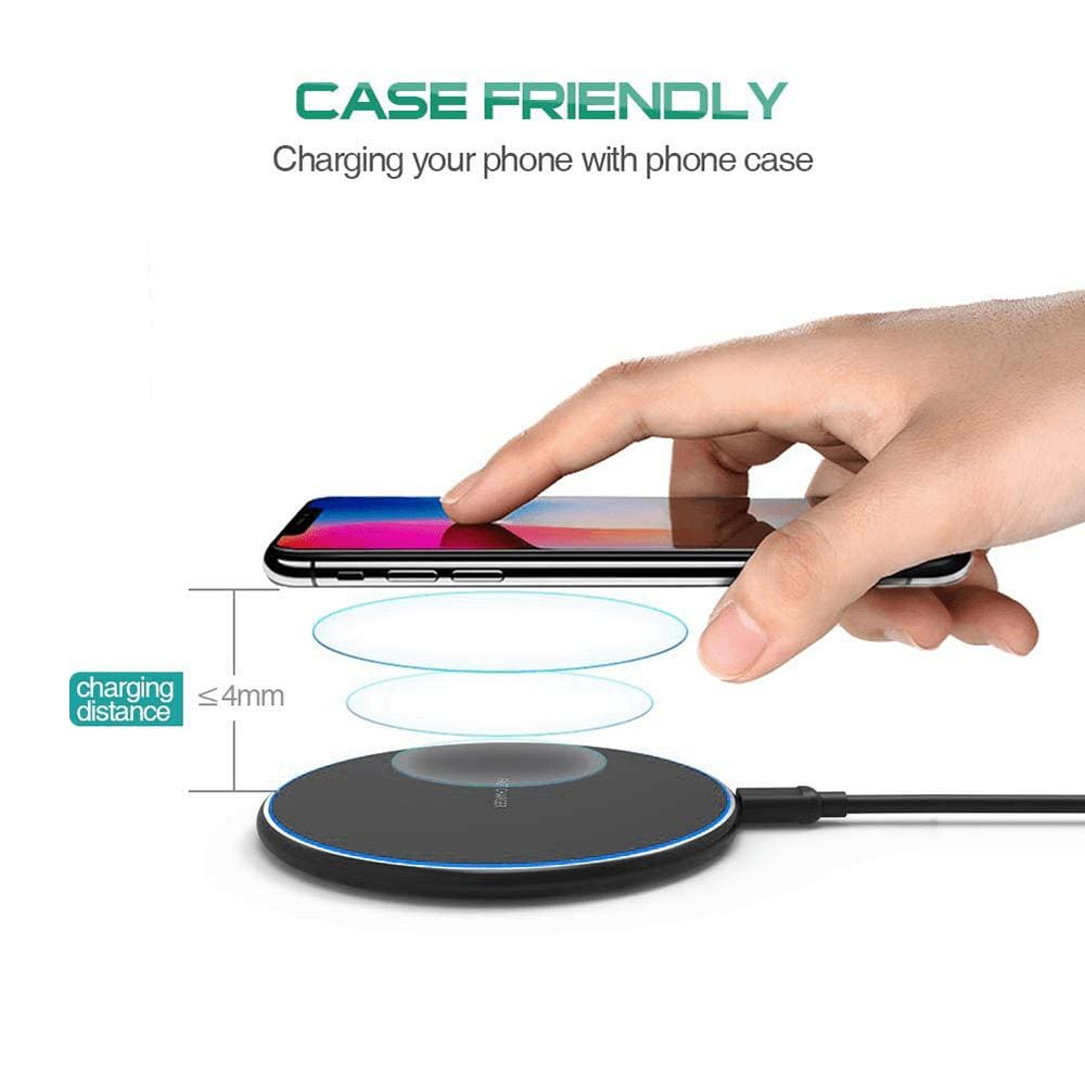 Fast Qi Wireless Charger For iPhone X XS Max XR 8 Plus Samsung S8 S9 S10 Note 9 Pic6