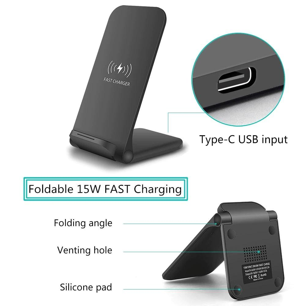 15W Qi Fast Wireless Charger for iPhone 11 Pro 8 X XR XS Max Airpods Samsung Pic7
