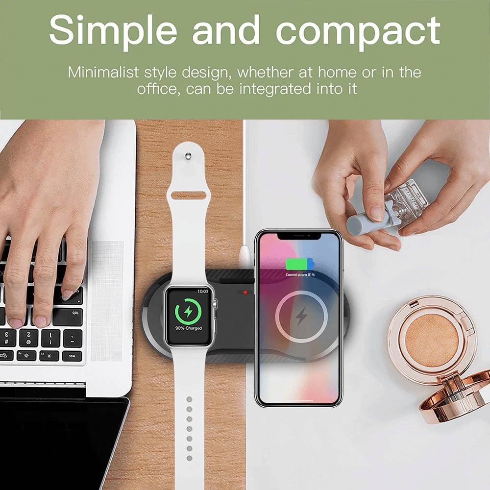 2 in 1 Fast Wireless Charger for Apple Watch Airpods Pro 10W Qi iPhone Samsung Pic7
