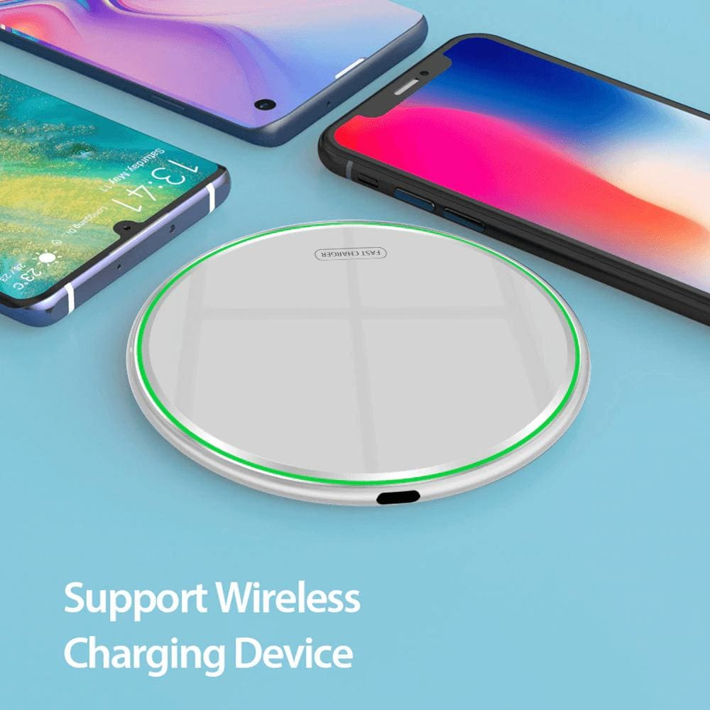 15W Quick Qi Wireless Charger Pad for Samsung Note 10 9 S10 S9 S8 iPhone Airpods Pic7