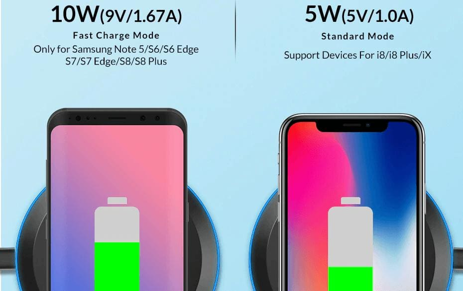 Wireless Fast Charger 10W Charging Pad for iPhone X Xs Max 8 Plus Samsung Note 9 Pic6
