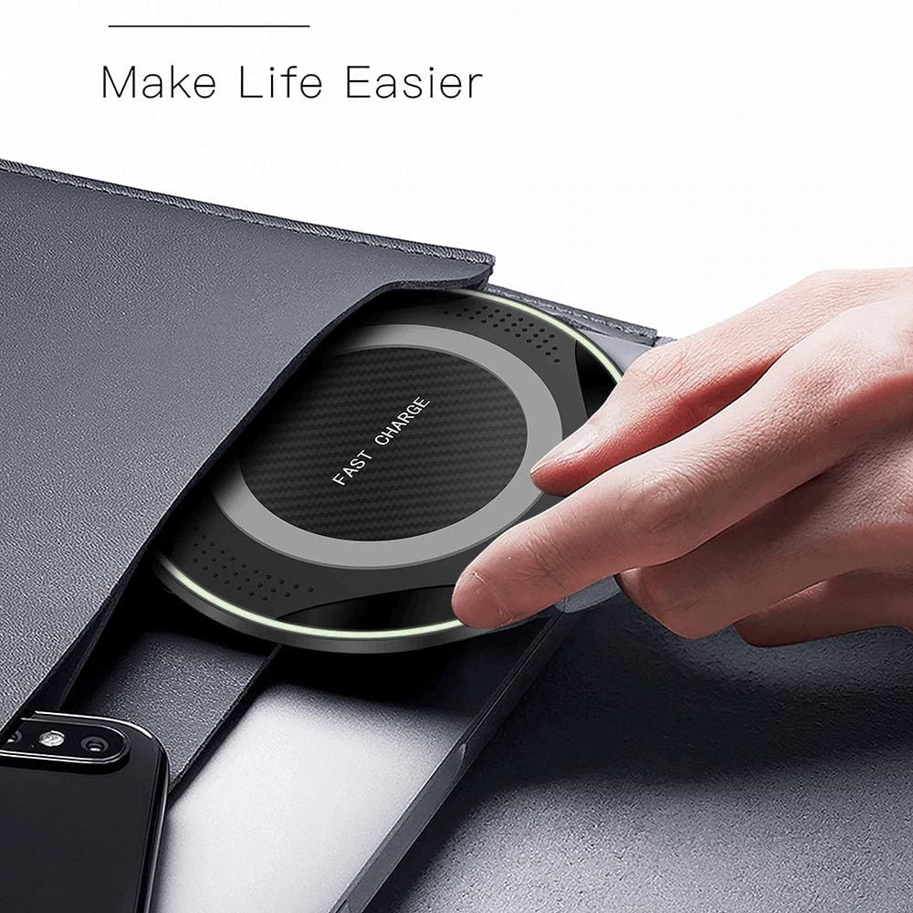 10W QI Fast Wireless Charger for iPhone XS Max XR X 8 Plus Samsung Note 9 S9 S8 Pic7